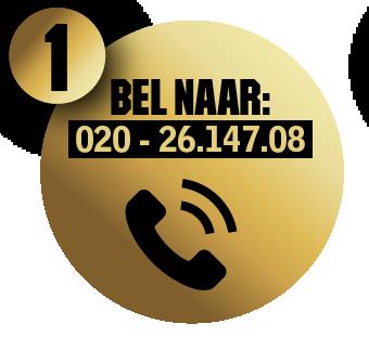 Bel naar 020 - 26.147.08
